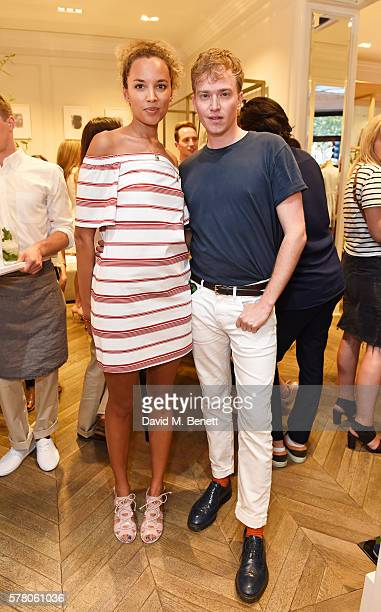 Phoebe CollingsJames and Fletcher Cowan attend the Club Monaco Summer Cocktail Party on July 20 2016 in London England