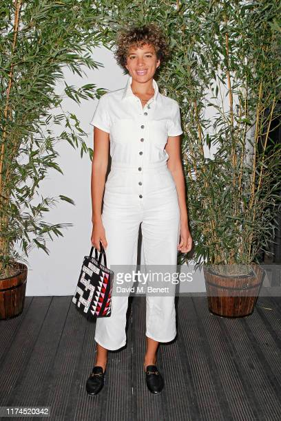 Phoebe CollingsJames attends the launch of Reformation's first London store at BaySIXTY6 Skatepark on September 13 2019 in London England