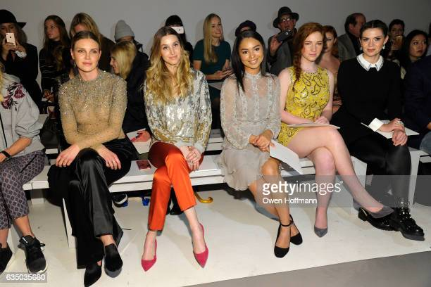 Phoebe Dahl Whitney Port Jessica Sula Annalise Basso and Guest attend the Jenny Packham show during New York Fashion Week at Skylight Clarkson on...