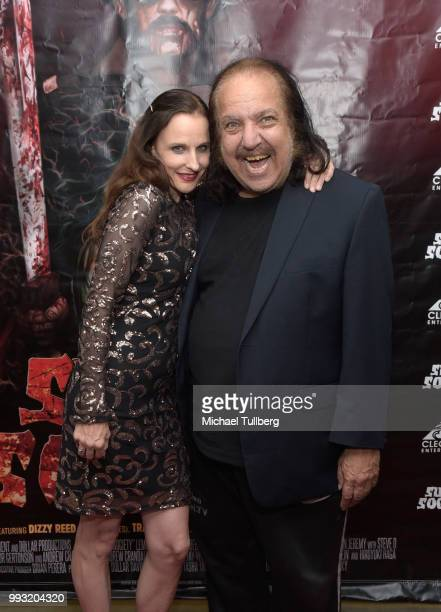 Phoebe Dollar and Ron Jeremy attend the premiere of Sunset Society at Downtown Independent on July 6 2018 in Los Angeles California