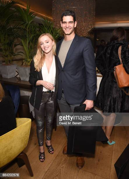 Phoebe Dynevor and Dino Kelly attends the ICONIC PR LND and PerrierJouët art presention of works by Picasso Miro Matisse Chagall at QP LDN on March...
