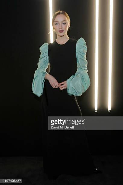 Phoebe Dynevor attends the dunhill & Dylan Jones Pre-BAFTA party at dunhill Bourdon House on January 29, 2020 in London, United Kingdom.