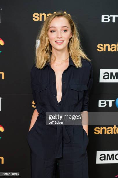 Phoebe Dynevor attends the Snatch TV show premiere at BT Tower on September 28 2017 in London England