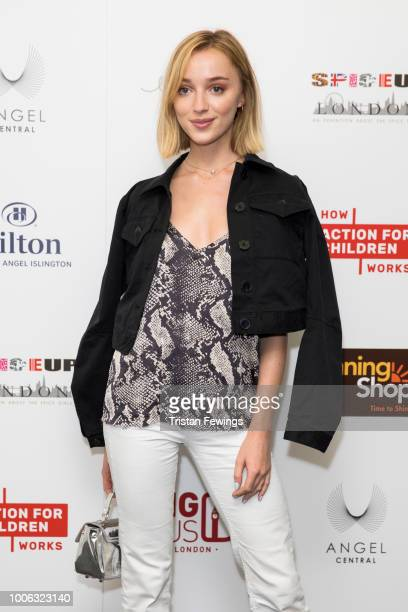 Phoebe Dynevor attends the 'SpiceUp London' exhibition VIP launch at Business Design Centre on July 27, 2018 in London, England.