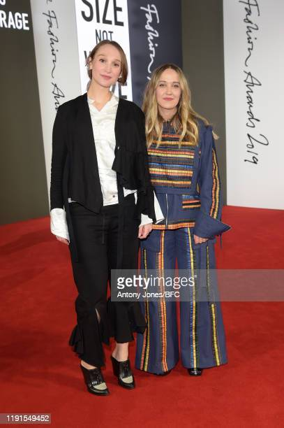 Phoebe English and Bethany Williams attend The Fashion Awards 2019 held at Royal Albert Hall on December 02, 2019 in London, England.