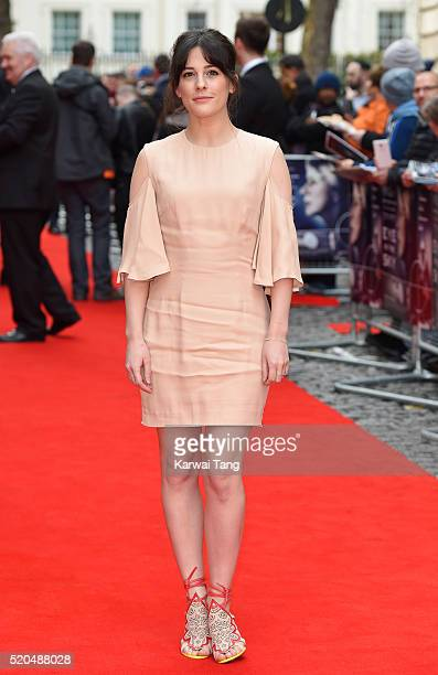 """Phoebe Fox arrives for the UK premiere of """"Eye In The Sky"""" at Curzon Mayfair on April 11, 2016 in London, United Kingdom."""