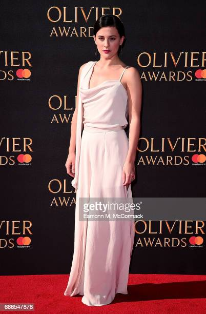 Phoebe Fox attends The Olivier Awards 2017 at Royal Albert Hall on April 9 2017 in London England