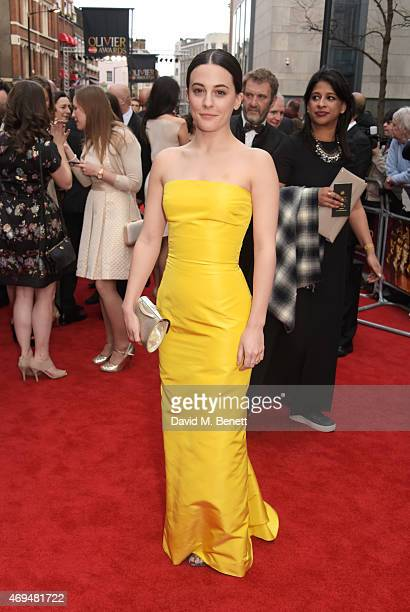 Phoebe Fox attends The Olivier Awards at The Royal Opera House on April 12 2015 in London England