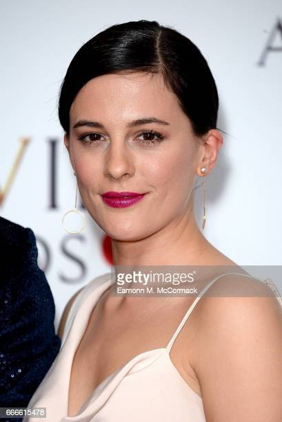 Phoebe Fox poses in the winners room at The Olivier Awards 2017 at Royal Albert Hall on April 9 2017 in London England