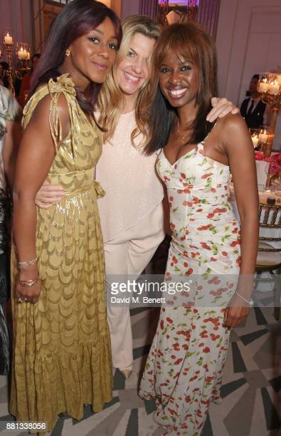 Phoebe Hitchcox Inge Theron and June Sarpong attend the Lady Garden Gala in aid of Silent No More Gynaecological Cancer Fund and Cancer Research UK...