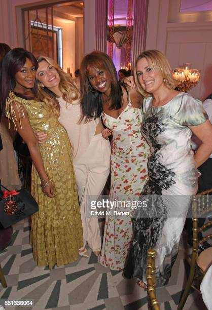 Phoebe Hitchcox Inge Theron June Sarpong and Mika Simmons attend the Lady Garden Gala in aid of Silent No More Gynaecological Cancer Fund and Cancer...