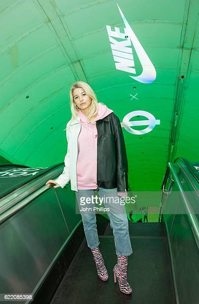 Phoebe Lettice attends NikeLab x Roundel launch at Charing Cross underground Station on November 9 2016 in London England