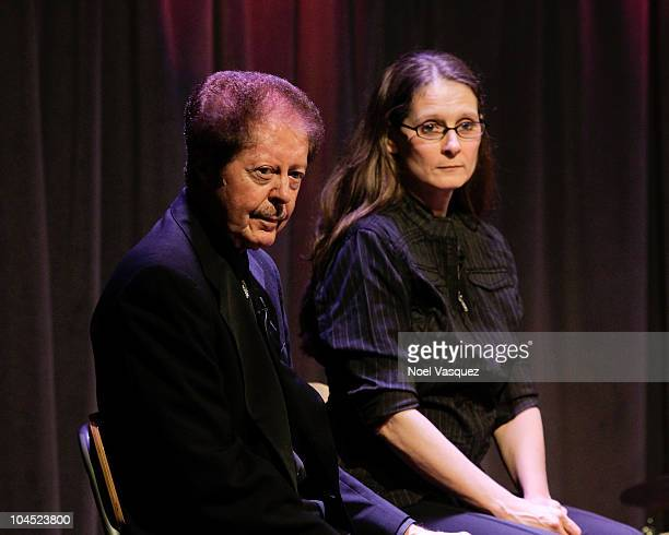 Phoebe Lewis and Kenny Lovelace attend 'An Evening With Jerry Lee Lewis' at The Grammy Museum on September 28 2010 in Los Angeles California
