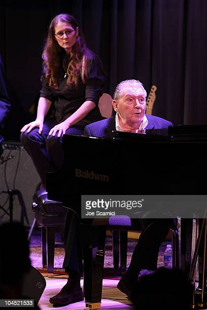 Phoebe Lewis looks on as Jerry Lee Lewis Performs at An Evening With Jerry Lee Lewis presented by American Express at The GRAMMY Museum on September...