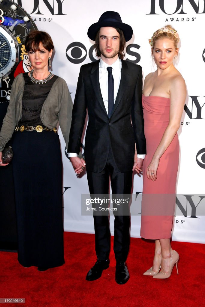 Phoebe Nicholls, Tom Sturridge and Sienna Miller attend The 67th Annual Tony Awards at Radio City Music Hall on June 9, 2013 in New York City.