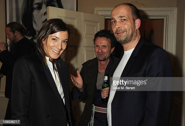 Phoebe Philo and Max Wigram attend a private dinner hosted by Jefferson Hack and Jay Jopling to celebrate the 10th anniversary of AnOther Magazine on...