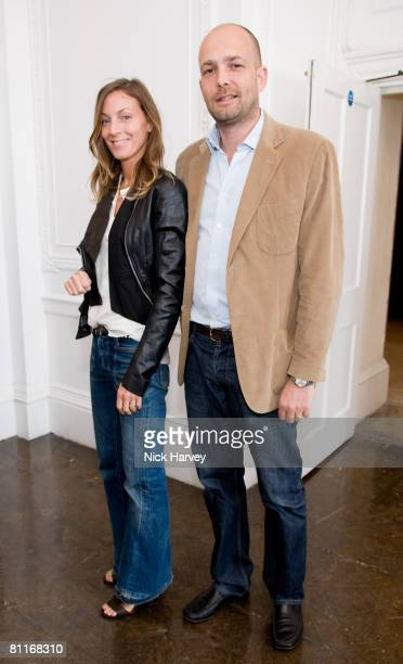 Phoebe Philo and Max Wigram attend African Solutions To African Problems Luncheon at Il Bottaccio on May 20 2008 in London England