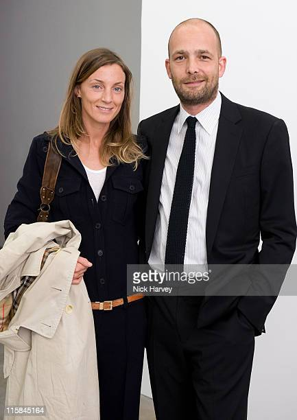 Phoebe Philo and Max Wigram attend Marine Hugonnier's 'The Secretary of the Invisible' exhibition private view at the Max Wigram Gallery 28 Redchurch...