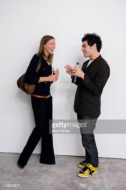 Phoebe Philo and Tim Webster attend Marine Hugonnier's 'The Secretary of the Invisible' exhibition private view at the Max Wigram Gallery 28...