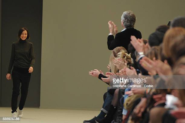 Phoebe Philo attends the Celine Ready to Wear Autumn/Winter 2011/2012 show at Paris Fashion Week in Paris