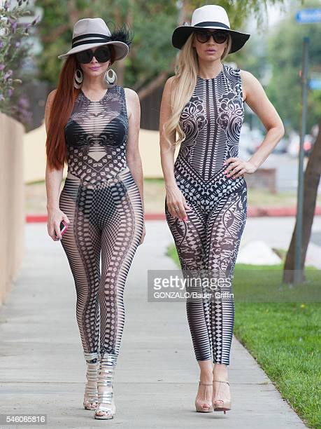 Phoebe Price and Ana Braga are seen on July 10 2016 in Los Angeles California