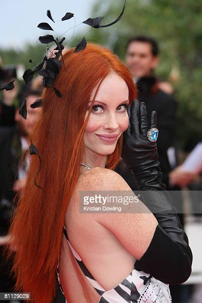 Phoebe Price arrives at the premiere for the film 'Vicky Cristina Barcelona' at the Palais des Festivals during the 61st International Cannes Film...