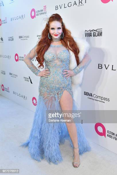 Phoebe Price attends the 26th annual Elton John AIDS Foundation Academy Awards Viewing Party sponsored by Bulgari celebrating EJAF and the 90th...