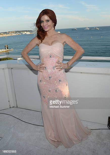 Phoebe Price attends the Summertime Entertainment's Cannes Animation Celebration Cocktail Party during the 66th Annual Cannes Film Festival at Les...