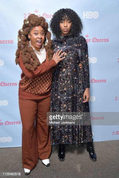 Phoebe Robinson and Jessica Williams attend the HBO 2 Dope Queens brunch and conversation during Sundance 2019 at Tupelo on January 27 2019 in Park...