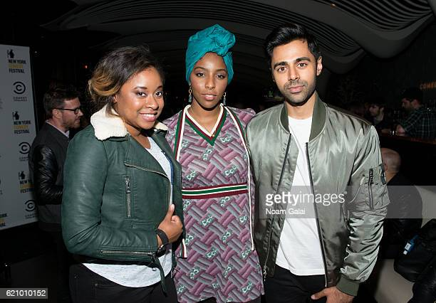 Phoebe Robinson, Jessica Williams and Hasan Minhaj attend Comedy Central's New York Comedy Festival kick-off party on November 3, 2016 in New York...