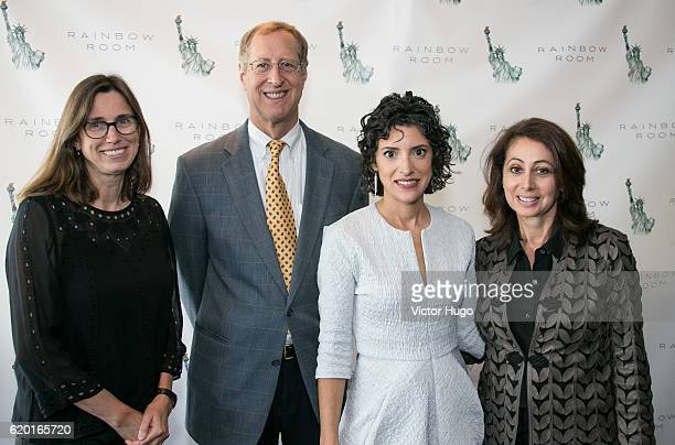 Phoebe Roosevelt Robert Harvey Julie Scelfo Donna Zaccaro attend The Women Who Made New York Luncheon at The Rainbow Room on November 1 2016 in New...