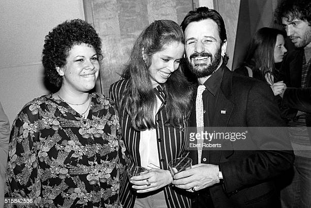 Phoebe Snow, Barbara Bach and Ringo Starr at the taping of the Robert Klein Radio Hour at RCA Studios in New York City on March 26, 1981.