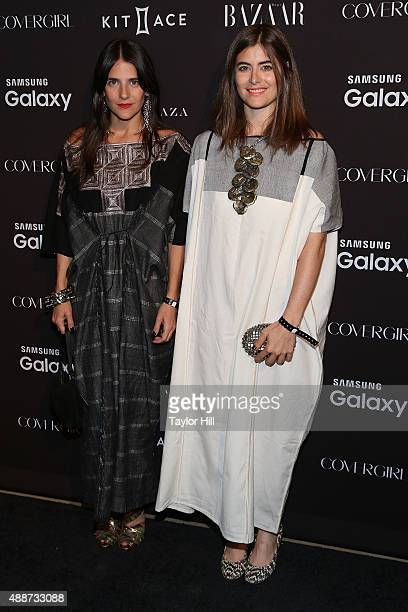 Phoebe Stephens and Annette Stephens attend the 2015 Harper ICONS Party at The Plaza Hotel on September 16 2015 in New York City