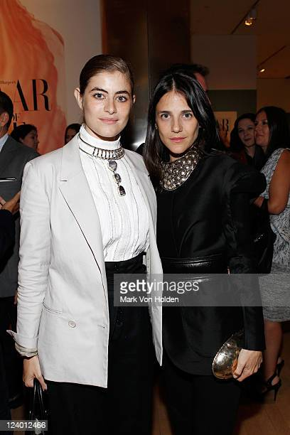 Phoebe Stephens and Annette Stephens attend the 'Harper's Bazaar Greatest Hits' book launch exhibition opening at the International Center of...