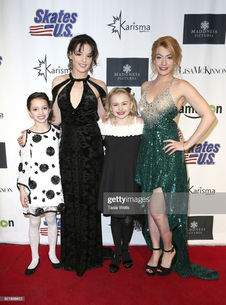 Phoebe Stubblefield, Maddison Bullock, Elise Freezer and Lisa Mihelich at the 'Ice The Movie' Los Angeles Special Screening at The Montalban Theater on February 20, 2018 in Los Angeles, California.