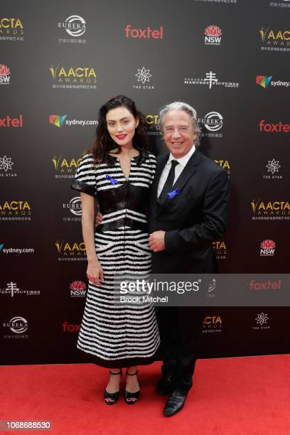 Phoebe Tonkin and Brett Popplewell attend the 2018 AACTA Awards Presented by Foxtel at The Star on December 5 2018 in Sydney Australia