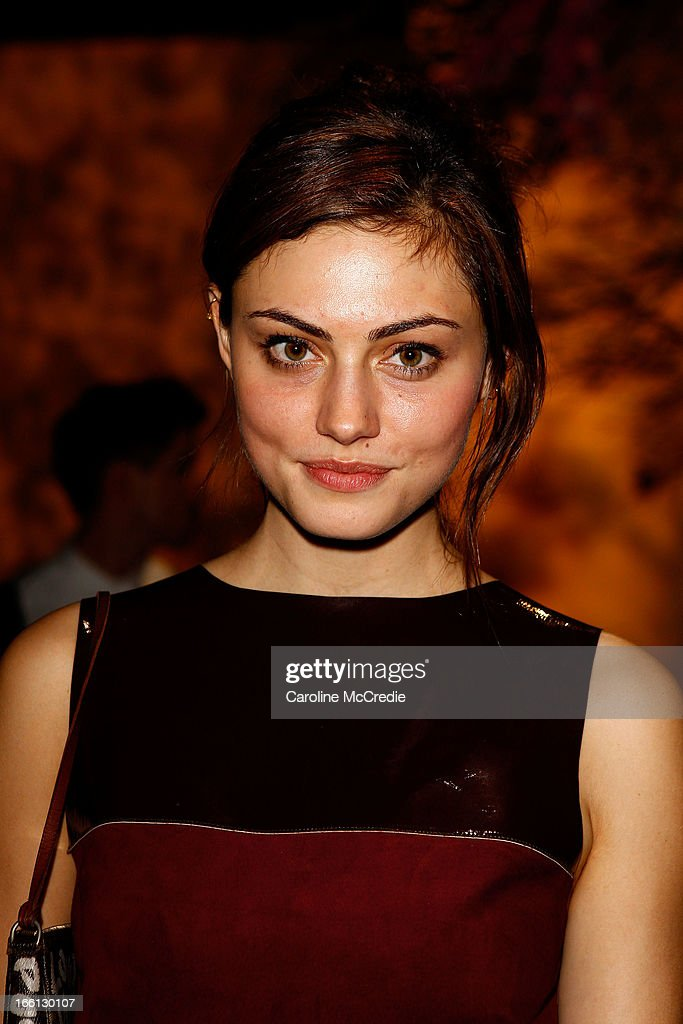Phoebe Tonkin attends the Aje show during Mercedes-Benz Fashion Week Australia Spring/Summer 2013/14 at Carriageworks on April 9, 2013 in Sydney, Australia.