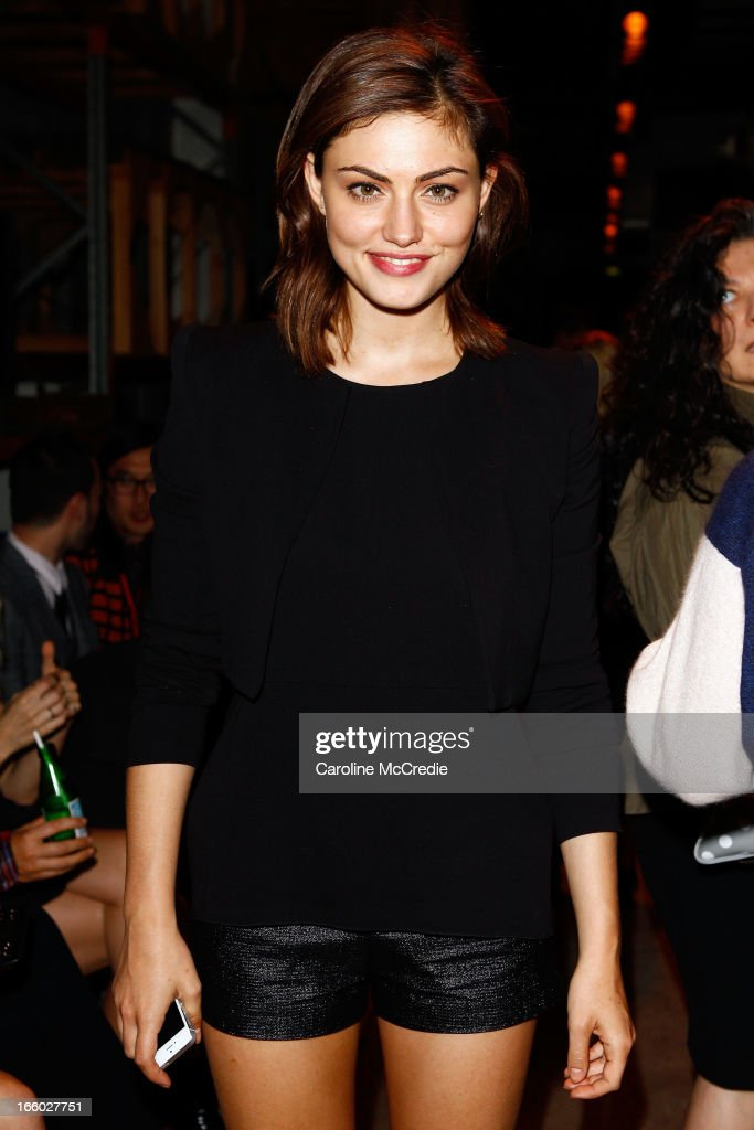 Phoebe Tonkin attends the Alex Perry show during Mercedes-Benz Fashion Week Australia Spring/Summer 2013/14 at Carriageworks on April 8, 2013 in Sydney, Australia.