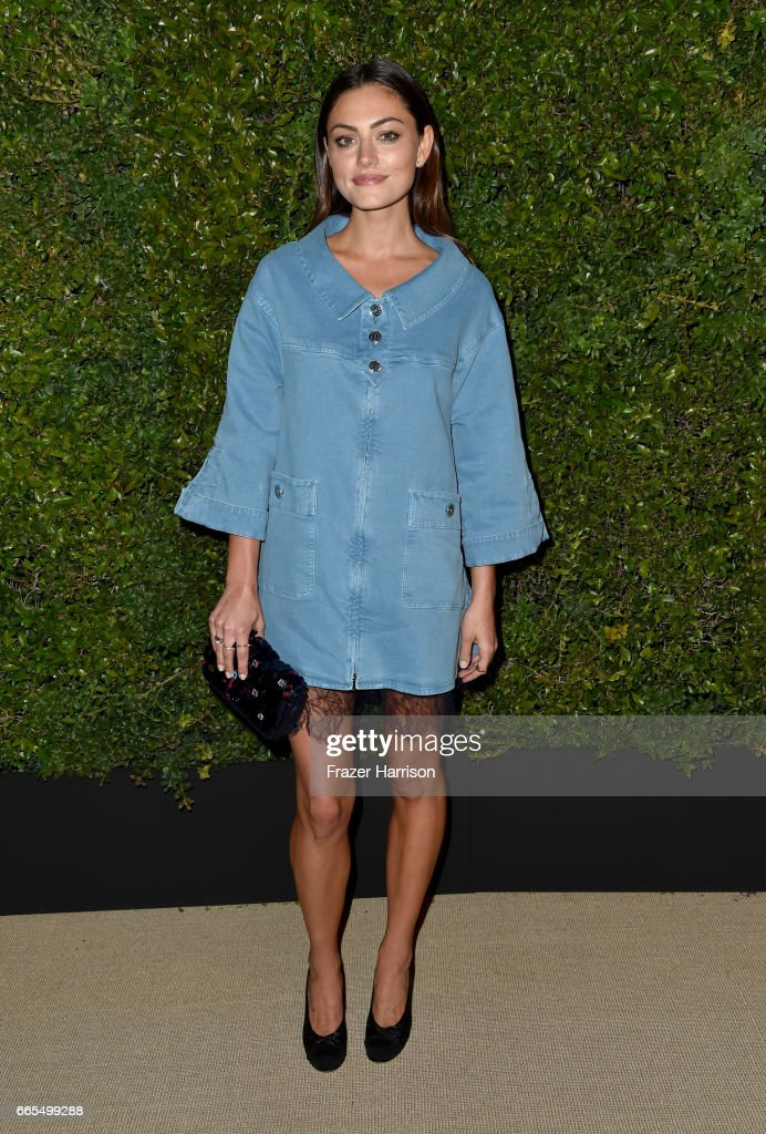 Phoebe Tonkin attends the celebration of Chanel's Gabrielle Bag hosted by Caroline De Maigret and Pharrell Williams at Giorgio Baldi on April 6, 2017 in Santa Monica, California.
