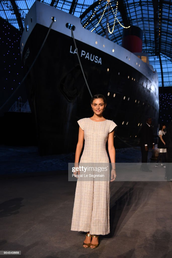 Phoebe Tonkin attends the Chanel Cruise 2018/2019 Collection at Le Grand Palais on May 3, 2018 in Paris, France.