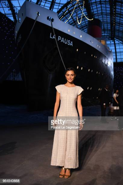 Phoebe Tonkin attends the Chanel Cruise 2018/2019 Collection at Le Grand Palais on May 3 2018 in Paris France