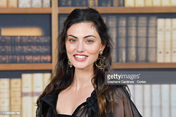 Phoebe Tonkin attends the Chanel photocall as part of Paris Fashion Week Haute Couture Fall Winter 2020 at Grand Palais on July 02 2019 in Paris...