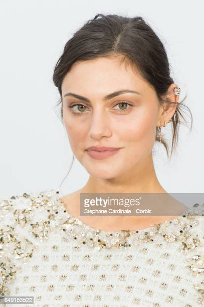 Phoebe Tonkin attends the Chanel show as part of the Paris Fashion Week Womenswear Fall/Winter 2017/2018 on March 7 2017 in Paris France