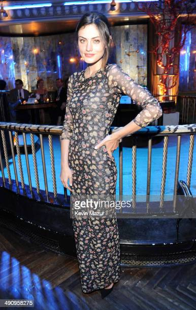Phoebe Tonkin attends The CW Network's 2014 Upfront party at Paramount Hotel on May 15 2014 in New York City