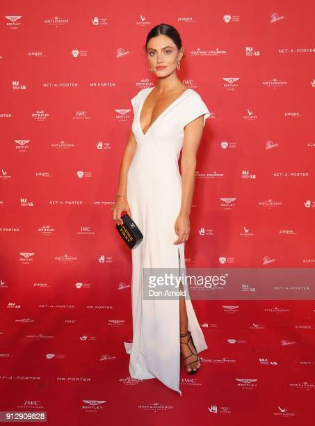 Phoebe Tonkin attends the inaugural Museum of Applied Arts and Sciences Centre for Fashion Bal at Powerhouse Museum on February 1 2018 in Sydney...