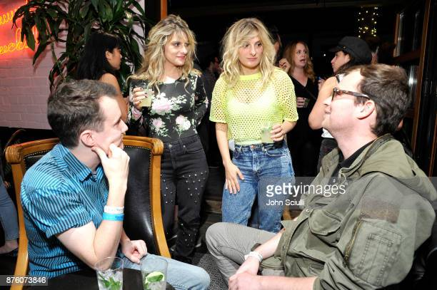 Phoebe Tyler and Claire Tyers with festivalgoers at the 'Search Party' scavenger hunt during Vulture Festival LA presented by ATT on November 18 2017...