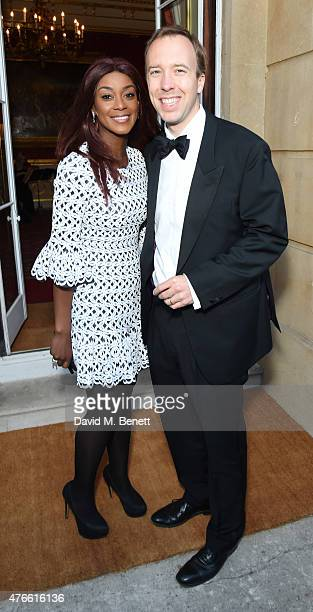 Phoebe Vela and matt Hancock attend the Bell Pottinger Summer Party at Lancaster House on June 10 2015 in London England