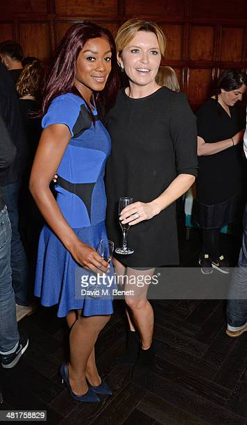 Phoebe Vela and Tina Hobley attend the launch of 'London Live' the first 24 hour entertainment channel devoted exclusively to the Capital at One...