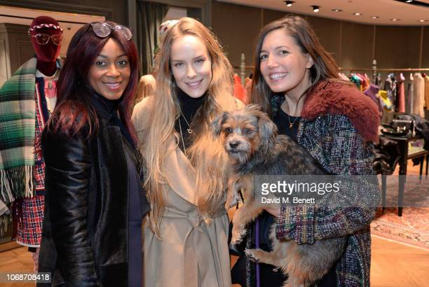 Phoebe Vela Hitchcox Hum Fleming and Amanda Sheppard attend the Lady Garden Foundation 5th anniversary breakfast at the Gucci Sloane Street boutique...