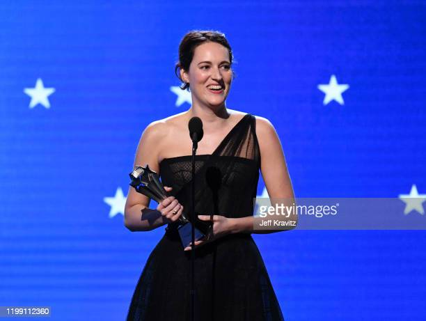 Phoebe Waller-Bridge accepts the Best Actress in a Comedy Series award for 'Fleabag' onstage during the 25th Annual Critics' Choice Awards at Barker...